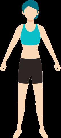 スポーツウェアを着た女性のイラスト